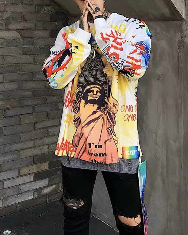 リバティグラフィティロングTシャツの画像2